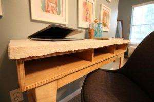 Plywood and Concrete Desk