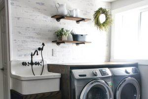 Laundry Sink Cabinet & Folding Counter