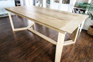Angled Base Dining Table