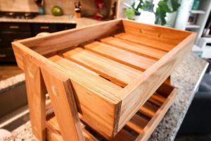 Two Tiered Wooden Serving Tray