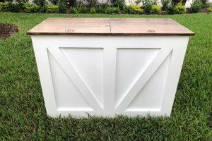 Trash and Recycling Cabinet