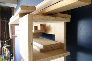 Wall Mounted Scrap Wood Storage