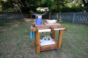 Outdoor Rolling Grill Cart