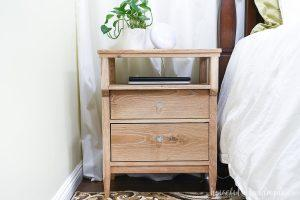 Tall Nightstand with Open Shelf