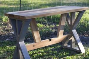 DIY Cedar Desk Build with Bottom Supports