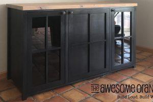 Window Pane Buffet – That Holds A Mini Fridge!