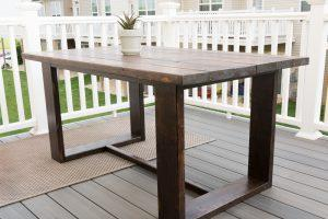Simple, Modern Outdoor Table