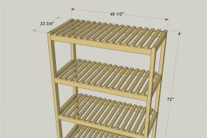 Slatted Storage Shelves