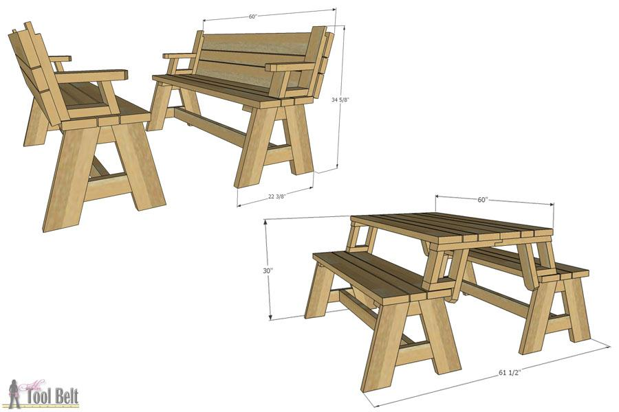 picnic-table-and-bench-dimensions