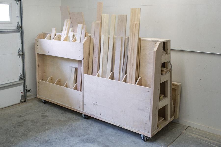 Rolling Lumber & Sheet Goods Cart
