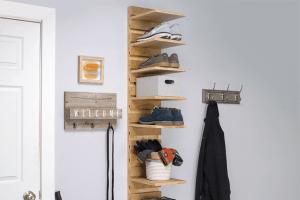 Wall-Mounted Shoe Rack – Metric