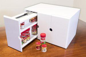 Spice Organizer Rack with Pull Out Drawers