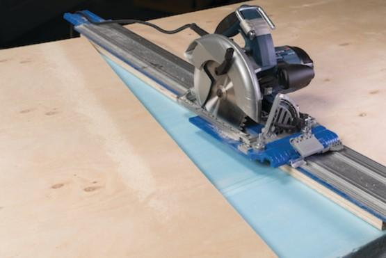 How to support large sheets for safe, easy cutting