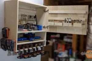 DIY Drill Storage Cabinet