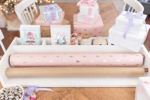 Holiday Gift Wrapping Caddy