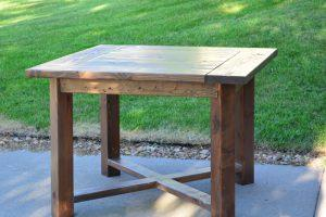 Square X Base Dining Table