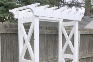 X Arbor with Bench