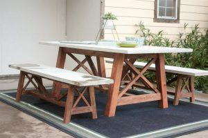 X Base Outdoor Dining Table