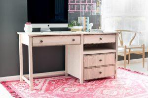 Desk with Hideaway Printer Storage