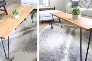 DIY Hairpin Leg Coffee Table