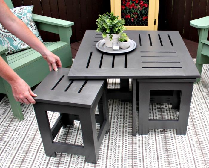 diy-outdoor-coffee-table-pulling