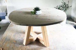 DIY Simplistic Circular Dining Table