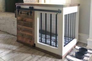 DIY Barn Door Dog Crate