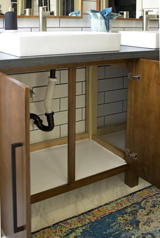 how-to-make-modern-wood-double-vanity-simple-flat-front