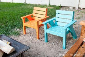 Kids Slatted Outdoor Chairs