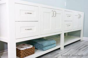 Mission Style Open Shelf Bathroom Vanity