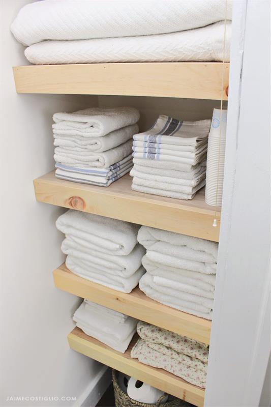 plywood-shelves-in-linen-closet