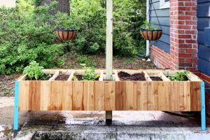 Raised Planter With Built In Compost
