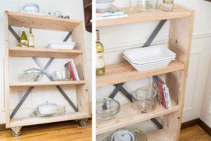 Rustic Industrial Pantry Bookshelf