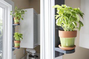 Simple Indoor Herb Shelf