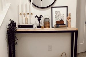 Simple mid Century Modern Entry Table