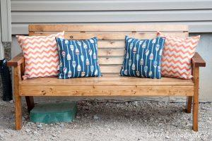 Slatted Outdoor Sofa