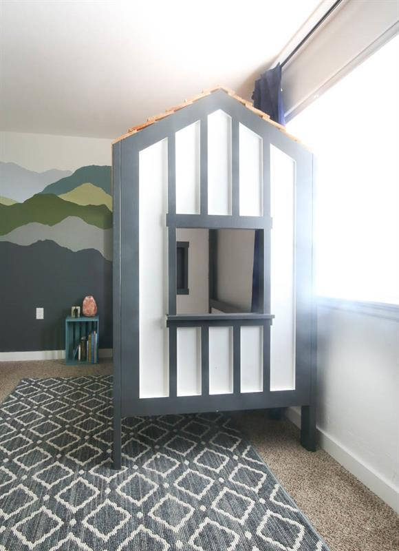 white-and-gray-boy-cabin-bed-for-kids-room