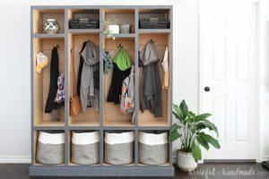 Simple Mudroom Lockers